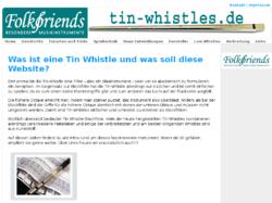 Infosammlung zur Tin Whistle