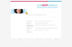 Ursel Etzel, Fachanwältin für Erbrecht, Mediation