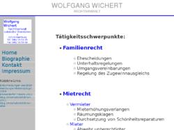 Wolfgang Wichert Rechtsanwalt