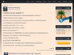 Beachclub Schleusenperle - in Hamburg Bergedorf am Schleusengraben direkt an der A25 Abfahrt Bergedorf