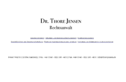 Rechtsanwalt Dr. Thore Jensen