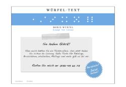 Doris Würfel – Würfel-Text. Konzept, Text, Lektorat