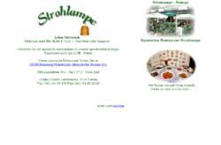 Strohlampe Spanisches Restaurant